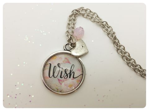 Wish,Pendant,necklace, pendant, modern, colourful, cabochon, wish