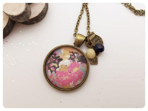 Watercolour,Pendant,necklace, pendant, modern, colourful, cabochon, watercolour