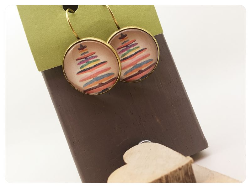 Colourful Tree Earrings - product images  of