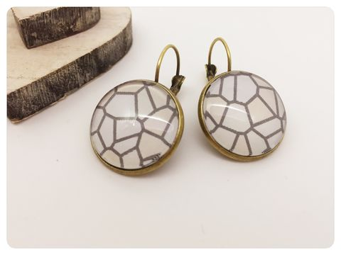 Pebbles,Earrings,earrings, modern, contemporary, bronze, pebbles