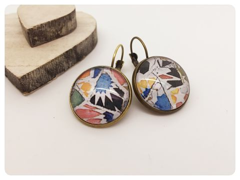 Pottery,Earrings,earrings, modern, contemporary, bronze, pottery