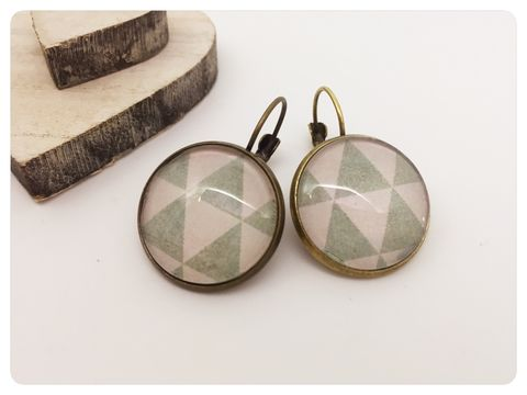 Geometric,Earrings,earrings, modern, contemporary, bronze, geometric