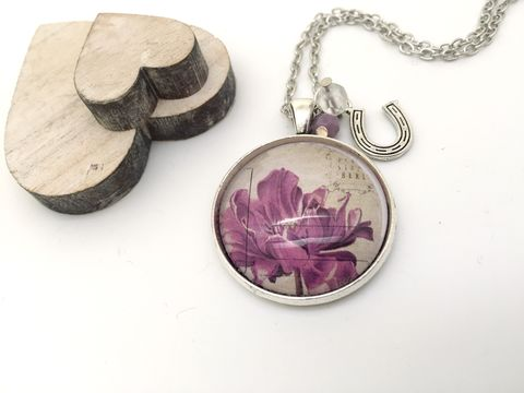 Vintage,Stamp,Pendant,necklace, pendant, modern, colourful, cabochon, vintage , stamp