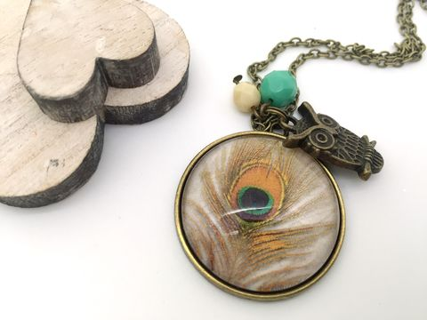 Feather,Pendant,necklace, pendant, modern, colourful, cabochon, feathers