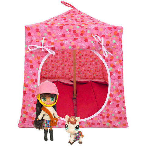 Light,pink,Toy,Play,Pop,Up,Tent,,2,Sleeping,Bags,,dot,&,flower,print,fabric,toy play pop up tent,fabric toy tents,kids play tents,light pink fabric tent,dot and flower print tent,girl toy,Blythe doll tent, Littlest Pet Shop house,doll camping play,gift for children,dark pink sleeping bags,handmade doll tent,toytentsandchairs