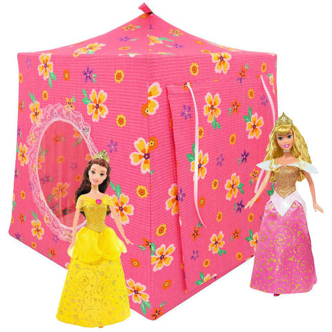 Pink,Toy,Play,Pop,Up,Tent,,2,Sleeping,Bags,,flower,print,fabric,toy play pop up tent,fabric toy tentskids play tents,pink fabric tent,flower print tent,toy tent for girls,Disney Princess doll tent,Barbie fabric tent,doll camping,gift for child,sleeping bags,handmade dollhouse,toytentsandchairs