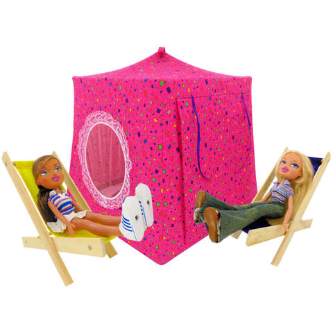 Dark,pink,Toy,Play,Pop,Up,Tent,,2,Sleeping,Bags,,small,square,print,fabric,toy play pop up tent,fabric toy tents,kids play tents,dark pink fabric tent,small square print tent,toy for girls,Bratz doll tent,tent for dolls,doll camping tent,gift for kids,sleeping bags,handmade dollhouse,toytentsandchairs