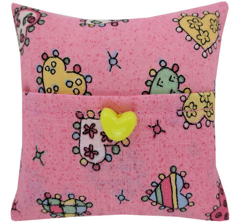Tooth,Fairy,Pillow,,pink,,heart,print,fabric,,yellow,button,trim,pink tooth fairy pillow,fabric tooth fairy pillows,tooth fairy,tooth fairy pillows,heart print fabric pillow,unique gift for girls,pillow for dolls,pillow tooth fairy,tooth pillow,toy pillow,kids gift, yellow heart button trim,handmade tooth fairy pillows