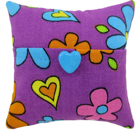 Tooth,Fairy,Pillow,,purple,,flower,and,heart,print,fabric,,blue,button,trim,purple tooth fairy pillow,fabric tooth fairy pillows,tooth fairy,tooth fairy pillows,flower and heart print fabric pillow,unique gift for girls,pillow for dolls, pillow tooth fairy,tooth pillow,children gift, blue heart button trim,handmade tooth fairy pi