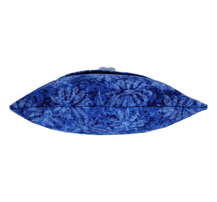 Tooth Fairy Pillow Blue Daisy Shadow Print Fabric