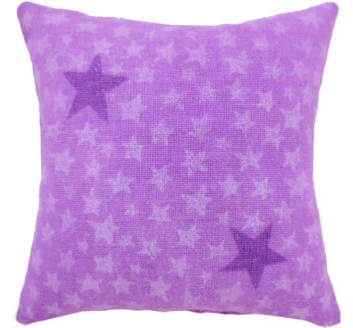 Tooth Fairy Pillow, light purple, sparkling star print fabric, iridescent star bead trim for girls - product images  of