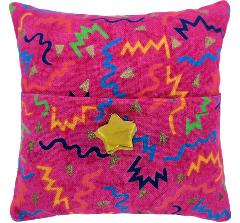 Tooth,Fairy,Pillow,,pink,,zig,zag,print,fabric,,gold,star,button,trim,for,girls,pink tooth fairy pillow,fabric tooth fairy pillows,tooth fairy,tooth fairy pillows,zig zag print fabric pillow,unique gift for girls,doll accessory,pillow with pocket,pillow tooth fairy,tooth pillow,toy pillow,childrens gift, gold star button trim,handmad