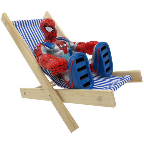 Toy,Wood,Lounge,Folding,Chair,,blue,&,white,stripe,fabric,toy wood chair,toy folding chair,toy lounge chair,blue and white stripe chair,boy toy,Spiderman chair,chair for action figures,toy lawn chair,doll furniture,dollhouse furniture,wooden chair,play camping chair, handmade toy chair,toytentsandchairs