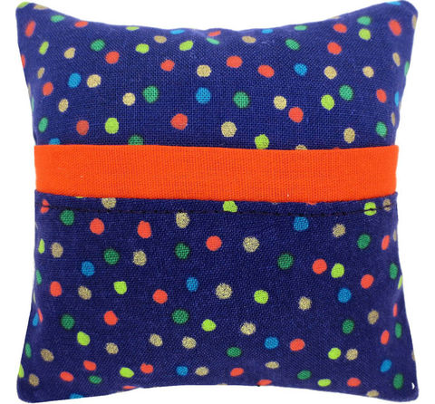 Tooth,Fairy,Pillow,,dark,purple,,colored,dot,print,fabric,,orange,bias,tape,trim,for,boys,or,girls