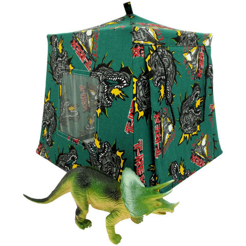 Forest,green,Toy,Play,Pop,Up,Tent,,2,Sleeping,Bags,,T-Rex,dinosaur,print,fabric,toy play pop up tent,fabric toy tents,kids play tents,forest green fabric tent,T-Rex dinosaur print tent,toy for boy,tent for dinosaur,lizard tent,action figure tent,gift for child,black sleeping bags,handmade toy tent,toytentsandchairs