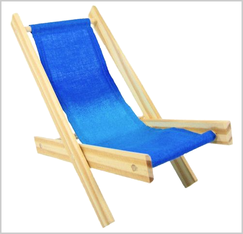 Royal blue stripe toy Lounge chair