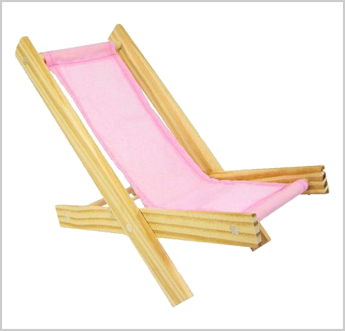 Light pink toy lounge chair