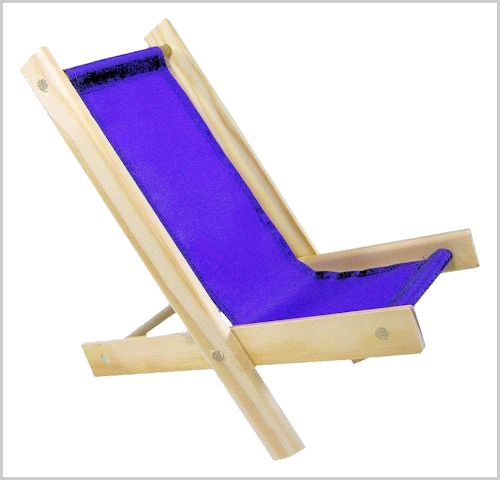 purple toy lounge chair
