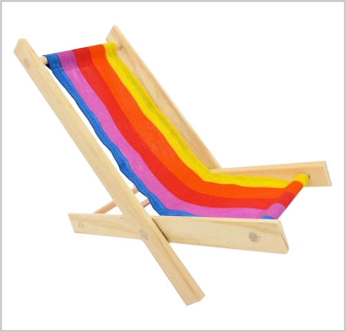 Striped toy lounge chair
