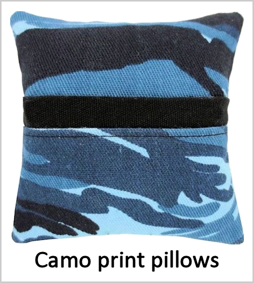 Camo print pillows for boys or girls