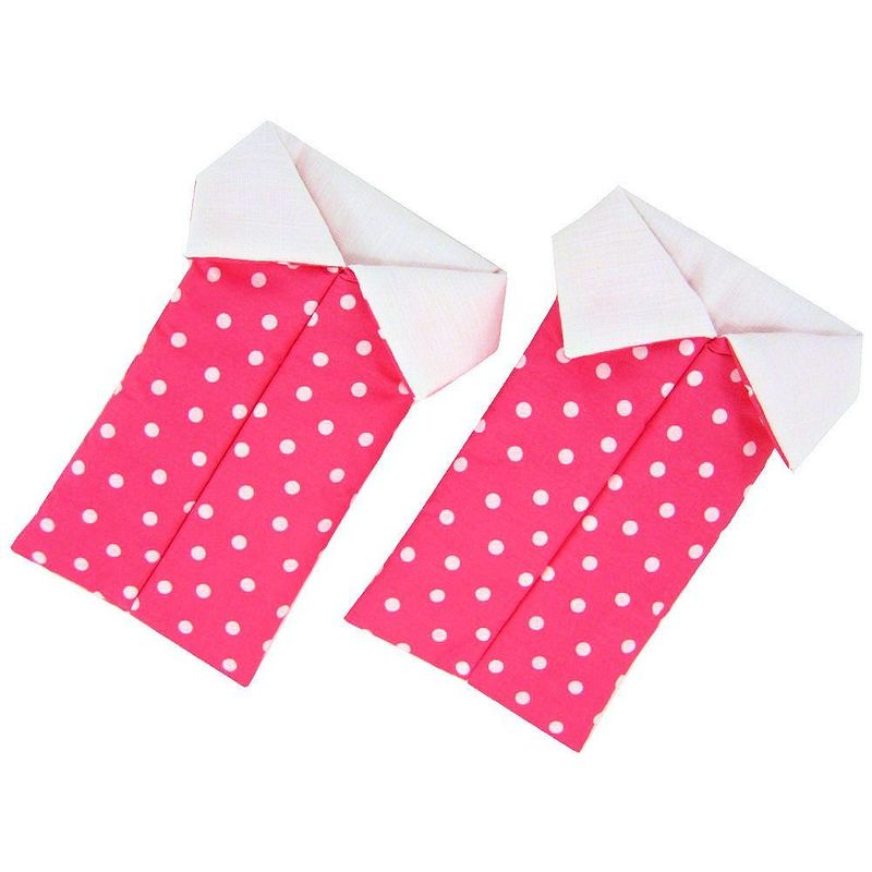 Pink Toy Play Pop Up Tent, 2 Sleeping Bags, polka dot print fabric - product images  of