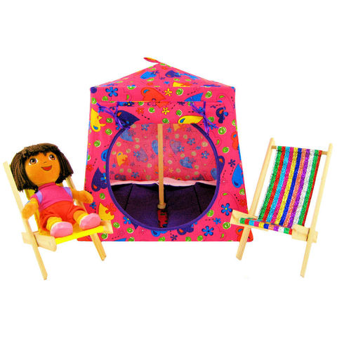 Pink,Toy,Play,Pop,Up,Tent,,2,Sleeping,Bags,,heart,&,flower,print,fabric,toy play pop up tent,fabric toy tents,kids play tents,pink fabric tent,heart print tent,girls toy,Dora tent,tent for Barbie,doll house,toy tents,purple sleeping bags,handmade doll tent, toytentsandchairs
