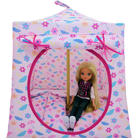Light,pink,Toy,Play,Pop,Up,Tent,,2,Sleeping,Bags,,umbrella,&,flower,print,fabric,toy play pop up tent,fabric toy tents,kids play tents,light pink fabric tent,umbrella and flower print tent,play camping,Moxie Girlz tent,girl toy,fabric dollhouse,gift for kids,pink sleeping bags,handmade toy tent,toytentsandchairs