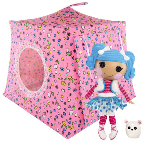 Pink,Toy,Play,Pop,Up,Tent,,2,Sleeping,Bags,,flower,&,heart,print,fabric,toy play pop up tent,toy pop up tent,fabric toy tents,kids play tents,pink fabric tent,flower print tent,girls toy,Lalaloopsy dollhouse,play doll camping,childrens toy,house for doll,sleeping bags,handmade doll tent,toytentsandchairs