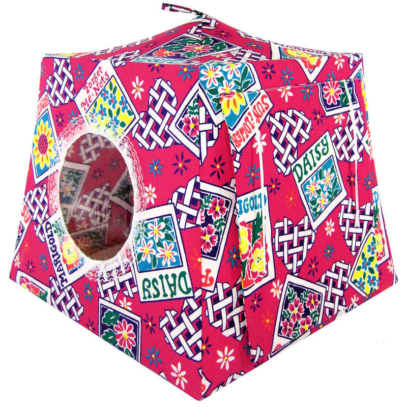 Pink Toy Play Pop Up Tent, 2 Sleeping Bags,  heart & flower print fabric - product images  of