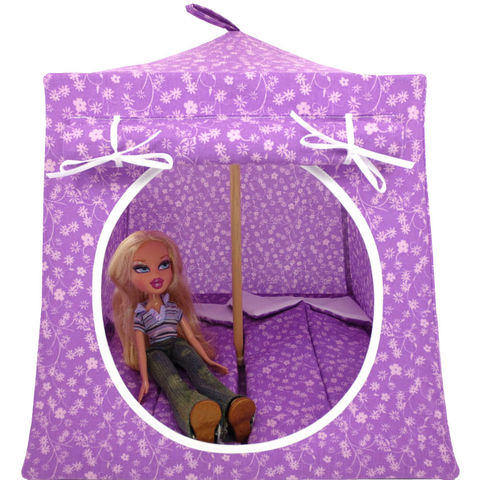 Violet,Toy,Play,Pop,Up,Tent,,2,Sleeping,Bags,,small,flower,print,fabric,toy play pop up tent,fabric toy tents,kids play tents,violet fabric tent,small flower tent,girl toys,Bratz doll tent,fabric doll house,doll camping tent,gift for children,sleeping bags,handmade play tent, toytentsandchairs