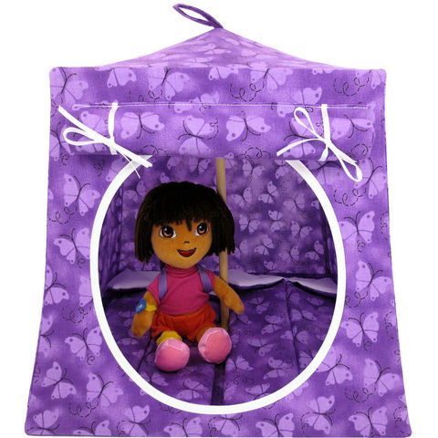 Purple,Toy,Play,Pop,Up,Tent,,2,Sleeping,Bags,,butterfly,print,fabric,toy play pop up tent,fabric toy tents,kids play tents,purple fabric tent,butterfly print tent,toy tent for girl,Dora tent,camping play tent,play house,gift for kids,sleeping bags,handmade doll tent, toytentsandchairs