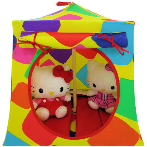 Yellow,Toy,Play,Pop,Up,Tent,,2,Sleeping,Bags,,multicolor,print,fabric,toy play pop up tent,fabric toy tents,kids play tents,yellow fabric tent,multicolor print tent,girls toy,Hello Kitty tent,stuffed animal house,doll house,gift for kids,red sleeping bags,handmade play tent,toytentsandchairs