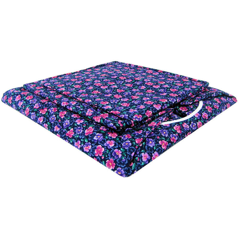 Black Toy Play Pop Up Tent, 2 Sleeping Bags, flower print fabric - product images  of