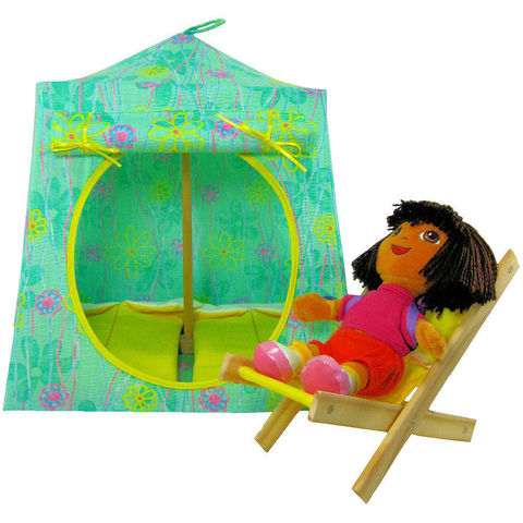 Light,green,Toy,Play,Pop,Up,Tent,,2,Sleeping,Bags,,flower,print,fabric,oy play pop up tent,toy pop up tent,fabric toy tents,kids play tents,doll tent,light green tent,flower print tent,girl toy,Dora tent,fabric doll house,doll camping,yellow sleeping bags,handmade doll tent,toytentsandchairs