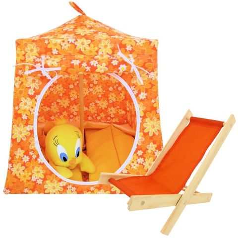 Orange,Toy,Play,Pop,Up,Tent,,2,Sleeping,Bags,,floral,print,fabric,toy play pop up tent,fabric toy tents,kids play tents,orange fabric tent,floral print tent,girl tent,Tweety Bird tent,stuffed animal house,play tent,gift for children,yellow sleeping bags,handmade dollhouse, toytentsandchairs