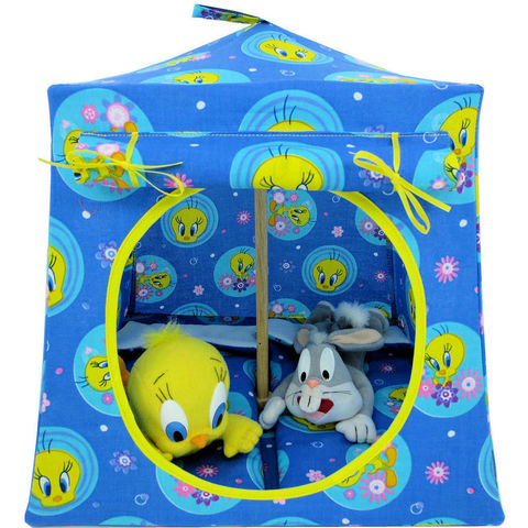 Blue,Toy,Play,Pop,Up,Tent,,2,Sleeping,Bags,,Tweety,Bird,print,fabric,toy play pop up tent,toy pop up tent,fabric toy tents,kids play tents,blue fabric tent,Tweety Bird tent,toy for child,stuffed animal tent,playhouses,kids gift,camping play tent,sleeping bags,handmade toy tent,toytentsandchairs