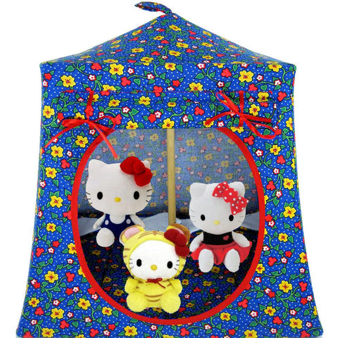 Blue,Toy,Play,Pop,Up,Tent,,2,Sleeping,Bags,,flower,print,fabric,toy play pop up tent,toy pop up tent,fabric toy tents,kids play tents,blue fabric tent,flower print tent,toys for kids,Hello Kitty tent,doll tent,play camping,toy house,sleeping bags,handmade dollhouse,toytentsandchairs