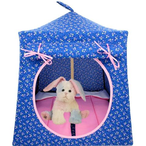Blue,Toy,Play,Pop,Up,Tent,,2,Sleeping,Bags,,flower,print,fabric,toy play pop up tent,toy pop up tent,fabric toy tents,kids play tent,blue fabric tent,flower print tent,toy for girls,tent for Webkinz,stuffed animal house,toy play tent,doll tent,light pink sleeping bags,handmade toy tent,toytentsandchairs