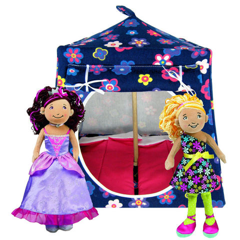 Navy,blue,Toy,Play,Pop,Up,Tent,,2,Sleeping,Bags,,flower,print,fabric,toy play pop up tent,toy pop up tent,fabric toy tents,kids play tents,navy blue tent,flower print tent,toy for girl,Groovy Girlz tent,dollhouse,house for dolls,camping toy,dark pink sleeping bags,handmade doll tent,toytentsandchairs
