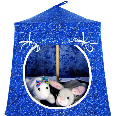 Royal,blue,Toy,Play,Pop,Up,Tent,,2,Sleeping,Bags,,silver,star,print,fabric,toy play pop up tent,toy pop up tent,fabric toy tents,play tent,royal blue tent,silver star tent,kids toys,stuffed animal tent,doll house,boys toy,play camping tent,blue sleeping bags,handmade toy tent,toytentsandchairs