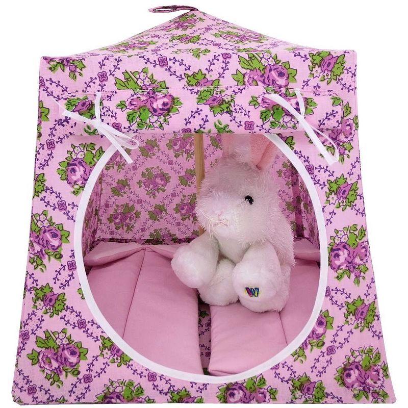 more photos ba327 1f90b Light pink Toy Play Pop Up Tent, 2 Sleeping Bags, rose print fabric