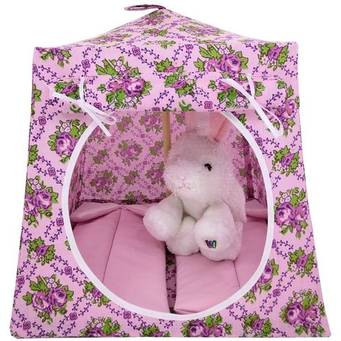 Light,pink,Toy,Play,Pop,Up,Tent,,2,Sleeping,Bags,,rose,print,fabric,toy play pop up tent,fabric toy tents,kids play tents,light pink fabric tent,rose print tent,girls toy