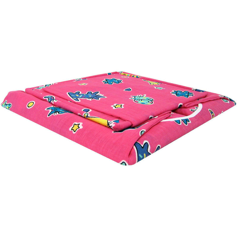 Pink Toy Play Pop Up Tent, 2 Sleeping Bags, cat print fabric - product images  of