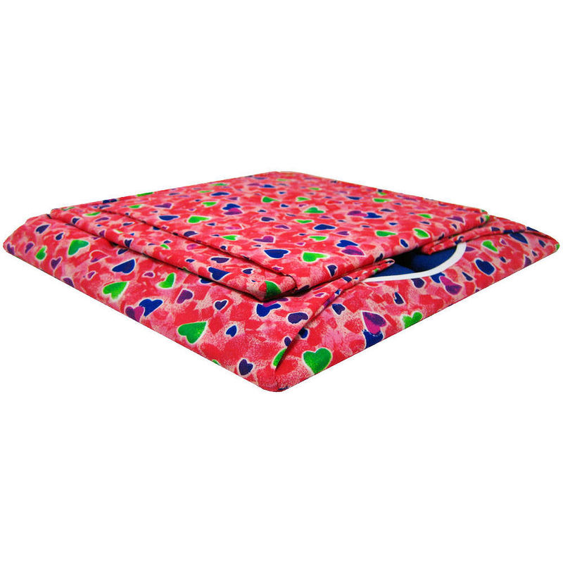 Red Toy Play Pop Up Tent, 2 Sleeping Bags, multicolored heart print fabric - product images  of