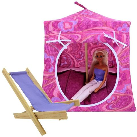 Shades,of,pink,Toy,Play,Pop,Up,Tent,,2,Sleeping,Bags,,swirl,and,flower,print,fabric,toy play pop up tent,fabric toy tents,kids play tents,shades of pink fabric tent,swirl and flower print tent, girl toy,Barbie doll tent,house for dolls,playhouse,gift for children,dark pink sleeping bags,handmade doll house,toy tents and chairs