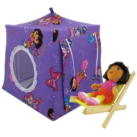 Purple,Toy,Play,Pop,Up,Tent,,2,Sleeping,Bags,,Dora,print,fabric,toy play pop up tent,toy pop up tent,fabric toy tents,kids play tents,purple fabric tent,Dora print tent,toys for girls,Dora tent,doll house,doll play tent,house for Dora,pink sleeping bags,handmade toy tent,toytentsandchairs
