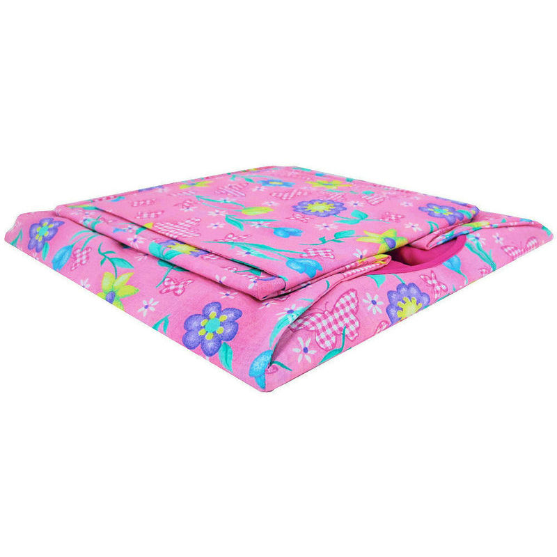 Pink Toy Play Pop Up Tent, 2 Sleeping Bags, butterfly & flower print fabric - product images  of