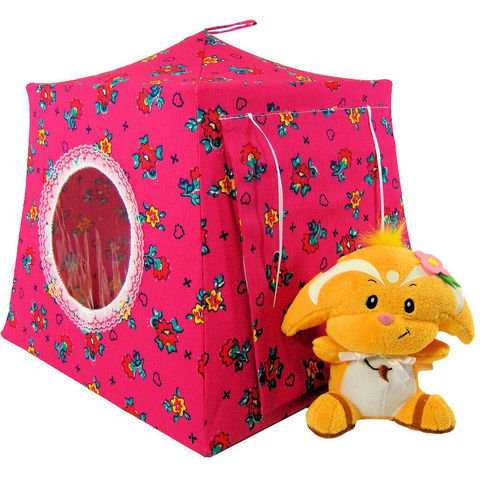 Dark,pink,Toy,Play,Pop,Up,Tent,,2,Sleeping,Bags,,flower,print,fabric,toy play pop up tent,fabric toy tents,kids play tents,dark pink tent,flower print tent,girls toy,Neopet tent,dollhouse,stuffed animal tent,childs toy tent,sleeping bags,handmade doll tent,toytentsandchairs