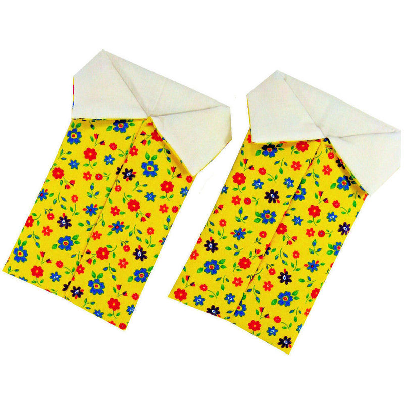 Yellow Toy Play Pop Up Tent, 2 Sleeping Bags, flower print fabric - product images  of