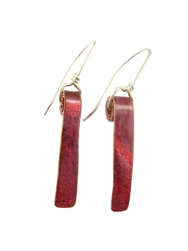 Earth spiral ribbon earrings - product image